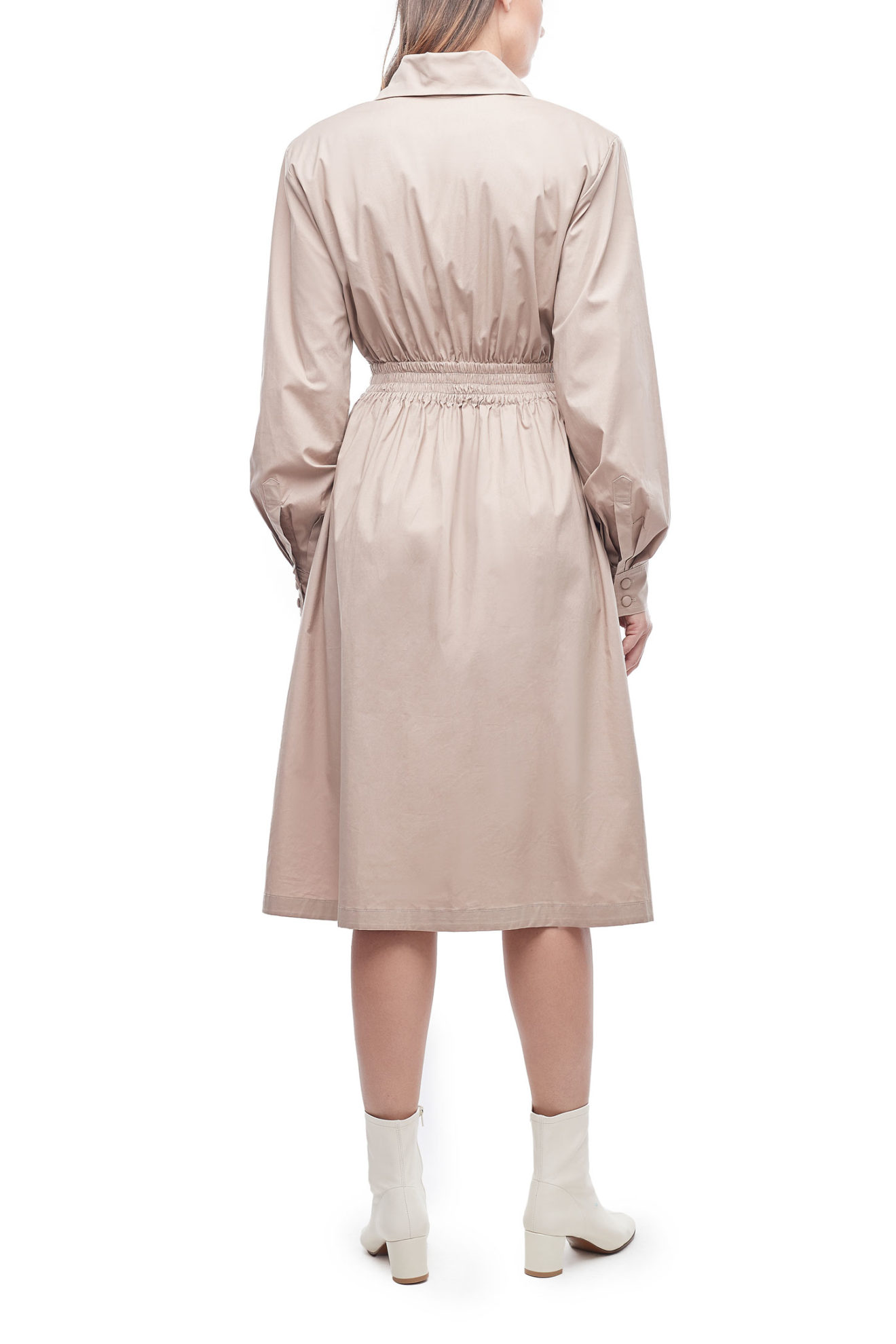 The Tyler Coat Dress in Nude - Atelier Patty Ang