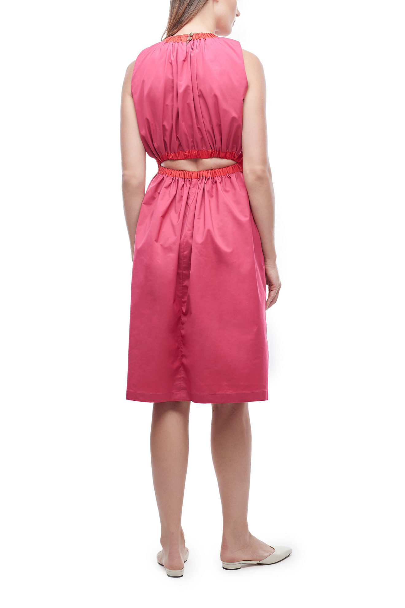 The Maddie Dress in Hot Pink & Red - Atelier Patty Ang